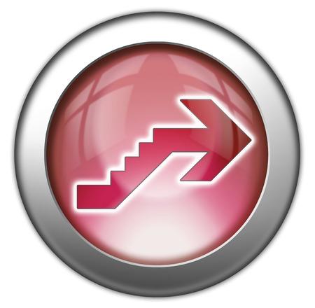 Icône, Bouton, pictogramme avec le symbole étage Banque d'images - 48207294