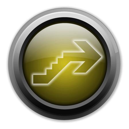 Icône, Bouton, pictogramme avec le symbole étage Banque d'images - 48207350