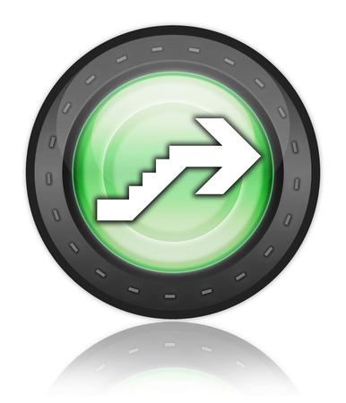 Icône, Bouton, pictogramme avec le symbole étage Banque d'images - 48207326
