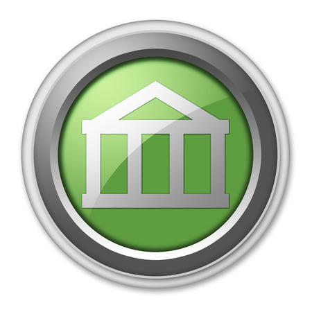 oney: Icon, Button, Pictogram with Bank symbol Stock Photo