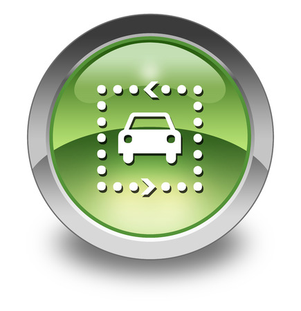 pushbuttons: Icon, Button, Pictogram with Driving Tour symbol Stock Photo