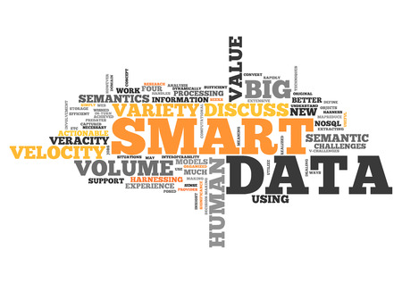 valuables: Wordcloud with Smart Data related tags