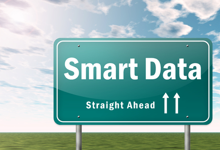 Signpost with Smart Data wording