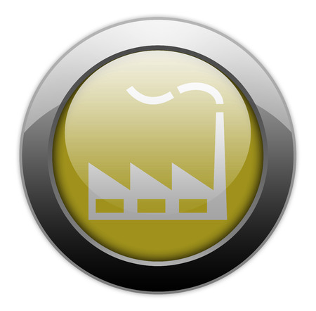 assembly line: Icon, Button, Pictogram with Factory symbol Stock Photo