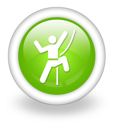 rock climbing: Icon, Button, Pictogram with Rock Climbing symbol