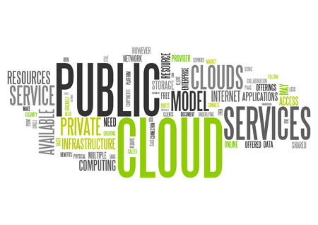 public services: Word Cloud with Public Cloud related tags