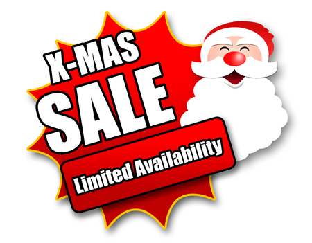 christmas savings: Holiday Season Promotional Sticker with Sales related wording