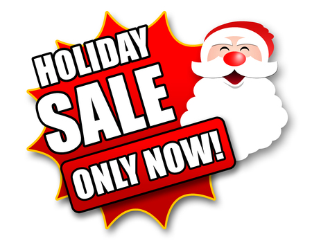 bargaining: Holiday Season Promotional Sticker with Sales related wording