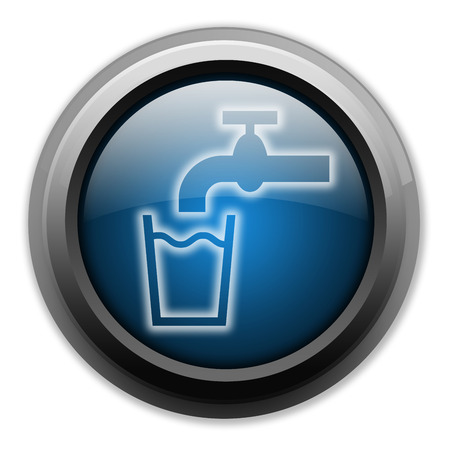 hook up: Icon, Button, Pictogram with Running Water symbol Stock Photo