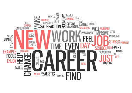 tag cloud: Word Cloud with New Career related tags