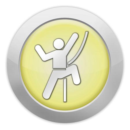 recreational climbing: Icon, Button, Pictogram with Rock Climbing symbol