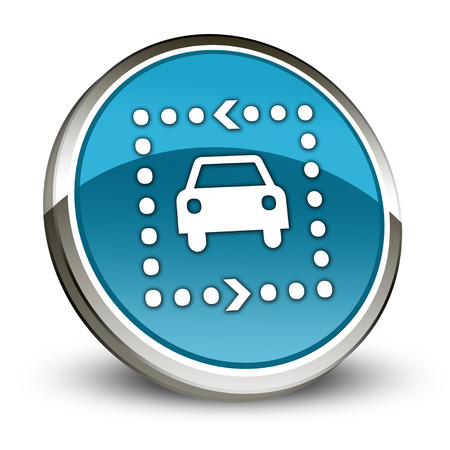 drive ticket: Icon, Button, Pictogram with Driving Tour symbol Stock Photo