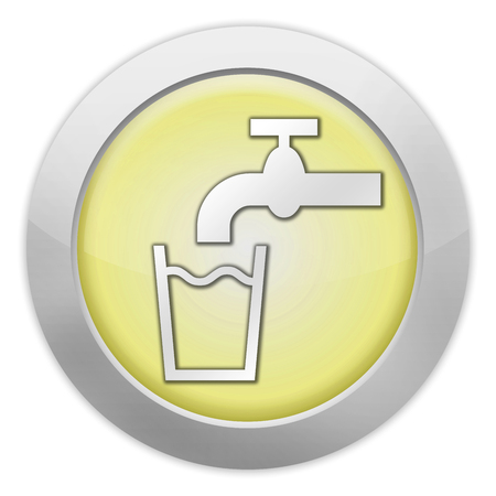signage outdoor: Icon, Button, Pictogram with Running Water symbol Stock Photo