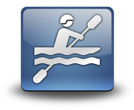 signage outdoor: Icon, Button, Pictogram with Kayaking symbol