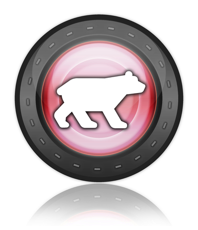 kodiak: Icon, Button, Pictogram with Bear symbol