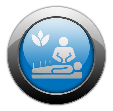 alternative: Icon, Button, Pictogram with Alternative Medicine symbol Stock Photo