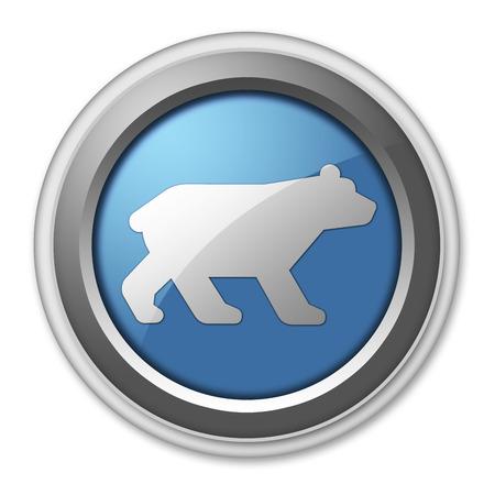 kodiak: Icon, Button, Pictogram with Bear symbol