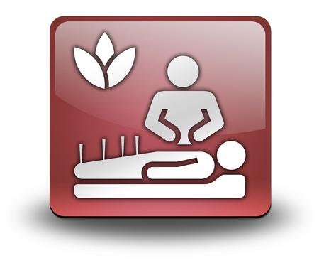 traditional chinese medicine: Icon, Button, Pictogram with Alternative Medicine symbol Stock Photo