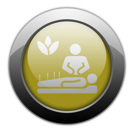 homeopathic: Icon, Button, Pictogram with Alternative Medicine symbol Stock Photo