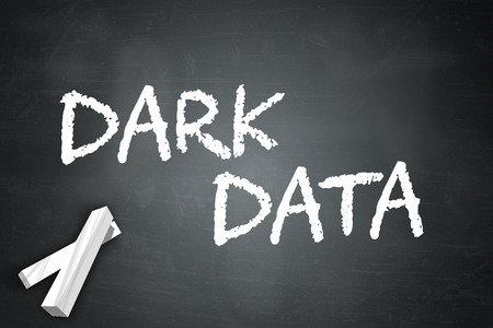irrelevant: Blackboard with Dark Data wording Stock Photo
