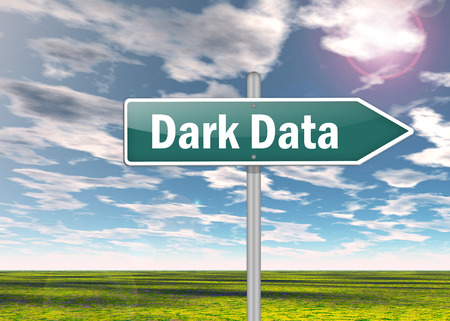 signpost: Signpost with Dark Data wording Stock Photo