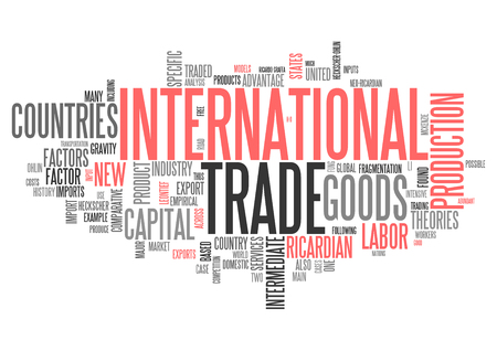globalism: Word Cloud with International Trade related tags