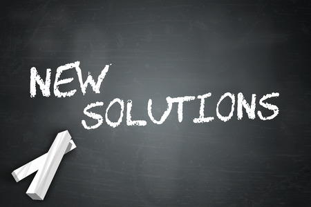 new solutions: Blackboard with New Solutions wording