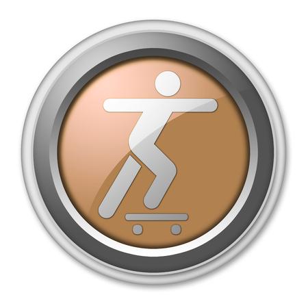skateboarding: Icon, Button, Pictogram with Skateboarding symbol Stock Photo