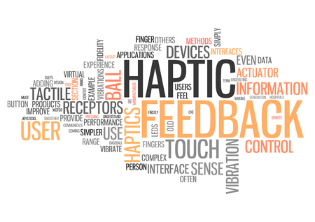 vibrate: Word Cloud with Haptic Feedback related tags
