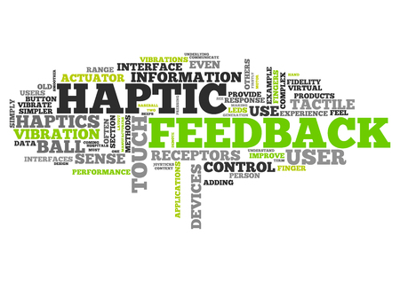 receptors: Word Cloud with Haptic Feedback related tags