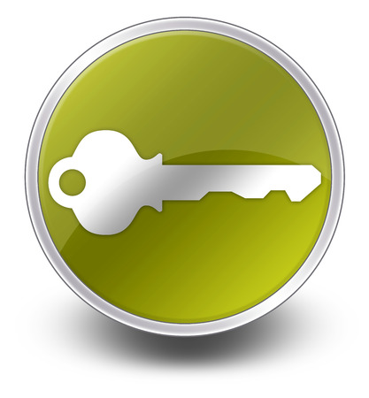 lockdown: Icon, Button, Pictogram with Key symbol