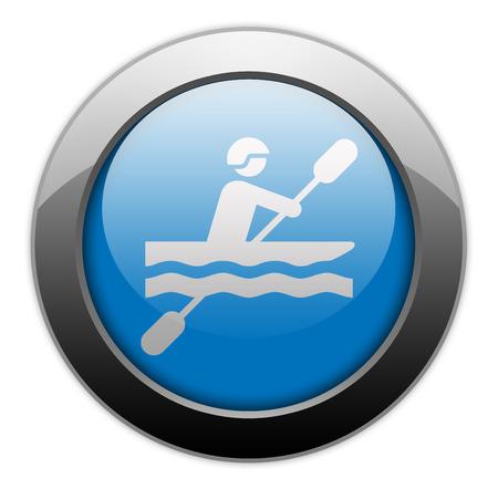 slalom: Icon, Button, Pictogram with Kayaking symbol