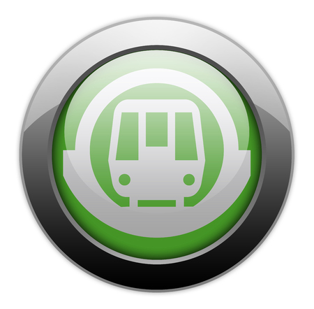 u  s  a: Icon, Button, Pictogram with Subway symbol