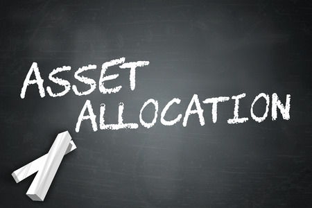 allocation: Blackboard with Asset Allocation wording
