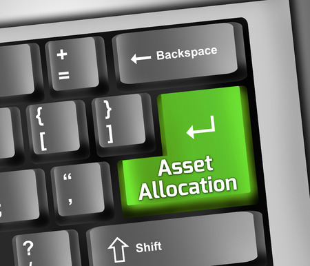 allocation: Keyboard Illustration with Asset Allocation wording Stock Photo