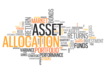 allocation: Word Cloud with Asset Allocation related tags Stock Photo