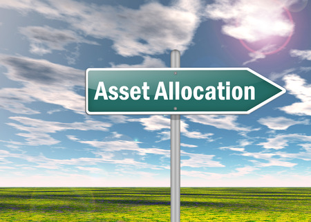 allocation: Signpost with Asset Allocation wording