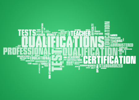 qualifications: Word Cloud with Qualifications related tags