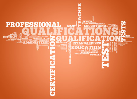 vocational: Word Cloud with Qualifications related tags