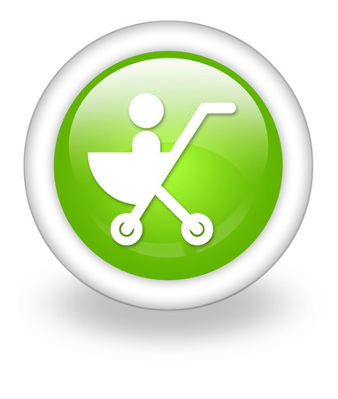 Icon, Button, Pictogram with Stroller symbol Stock fotó