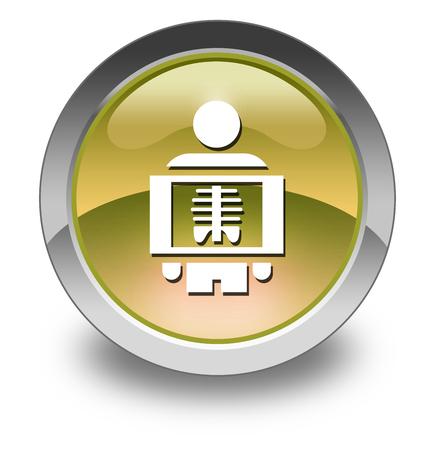 xray: Icon, Button, Pictogram with X-Ray symbol