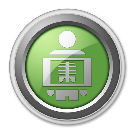 tomography: Icon, Button, Pictogram with X-Ray symbol