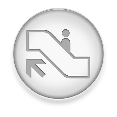 mall signs: Icon, Button, Pictogram with Escalator Up symbol