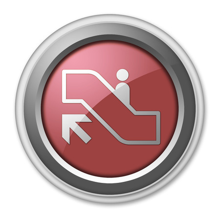 Icon, Button, Pictogram with Escalator Up symbol