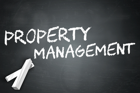 property management: Blackboard with Property Management wording