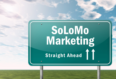 Signpost with Solomo Marketing wording