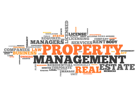 property: Word Cloud with Property Management related tags