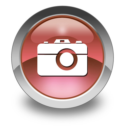 shutter speed: Icon, Button, Pictogram with Camera symbol Stock Photo