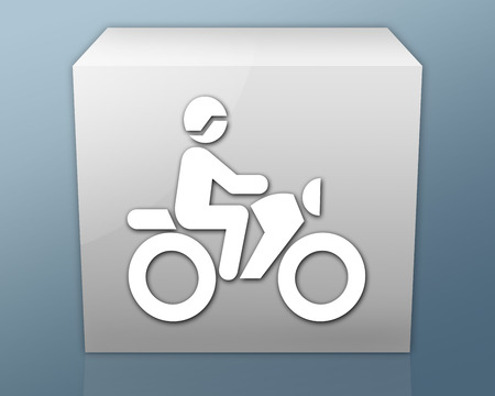 trail: Icon, Button, Pictogram with Motorbike Trail symbol