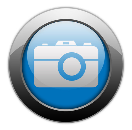 photo shoot: Icon, Button, Pictogram with Camera symbol Stock Photo